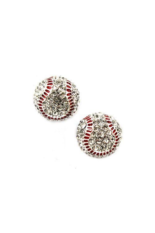 Baseball earrings--cute.