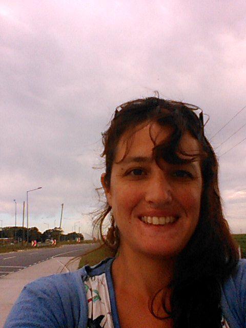selfie con ruta, en la parada
