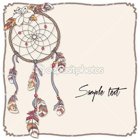 Fondo atrapasueños indio nativo americano — Ilustración de stock #18401729
