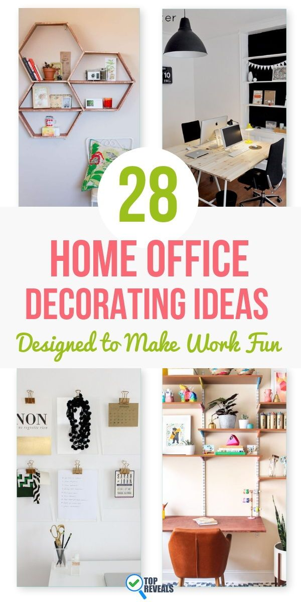 28 Home Office Decorating Ideas Designed To Make Work Fun Office