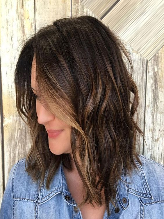 Sweep layers sultry hairstyles 2017-2018 with ends are blended