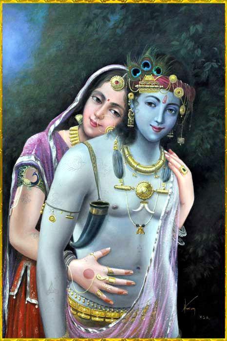 ✨ RADHA KRISHNA ✨Artist: Hari Omhttp://www.artforheart.in/