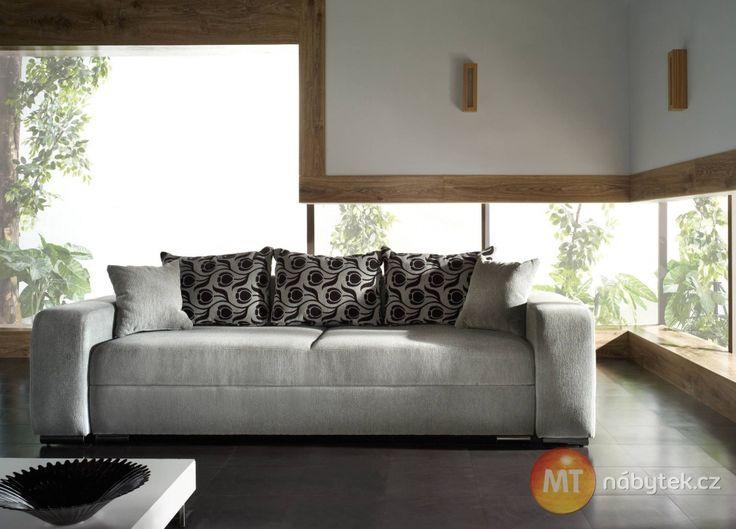 Luxusní rozkládací pohovka na každodenní spaní Nancy 1 #settee #sofa #divan #couch