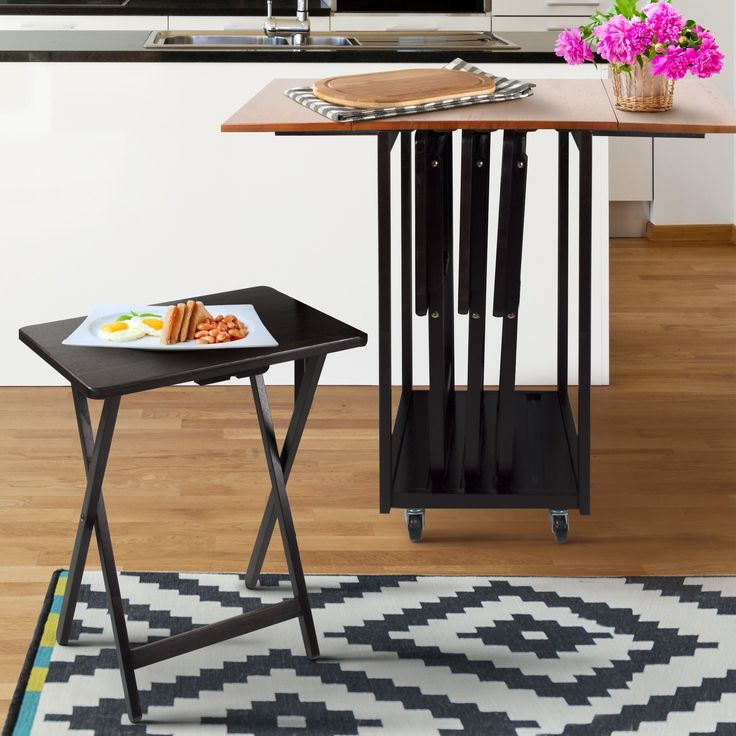 Drop Leaf Table/ TV Tray Set