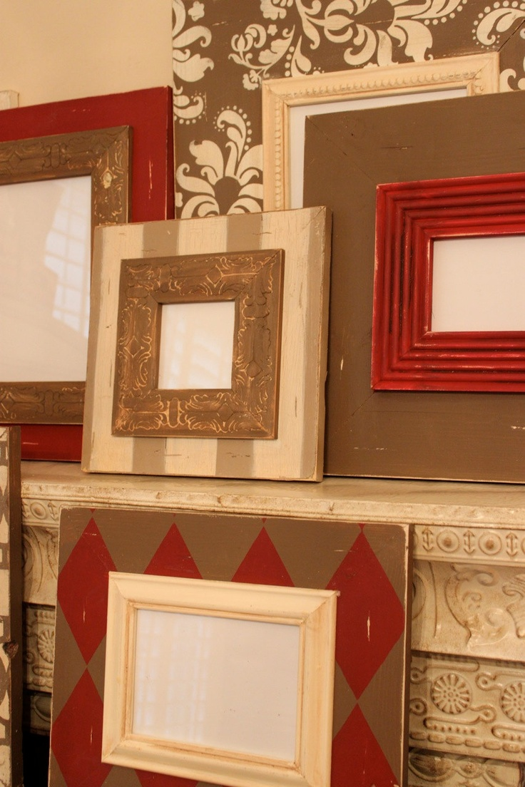 334 best frames repurpose images on pinterest craft for the distressed pop of red with versatile neutrals setgallery of wood picture frames custom jeuxipadfo Choice Image