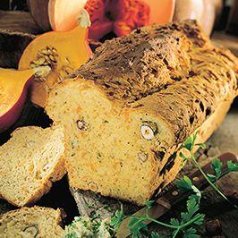 Dýňový chléb s ořechy.