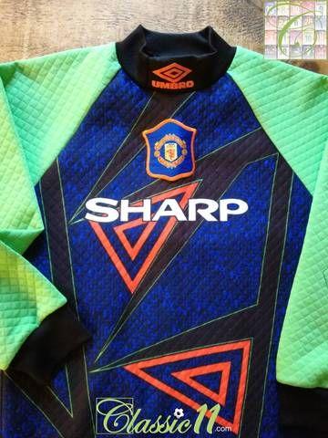 eb152e60920 Official Umbro Manchester United goalkeeper football shirt from the 1994/95  season.