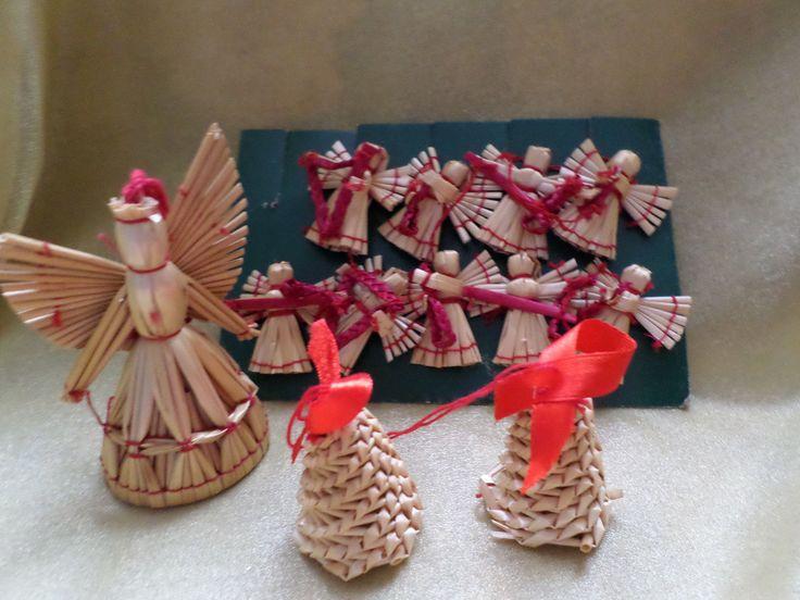 1Großer Engel+9x auf Karte 4x Glocken Stohsterne Baumbehang Weihnachtsschmuck   eBay