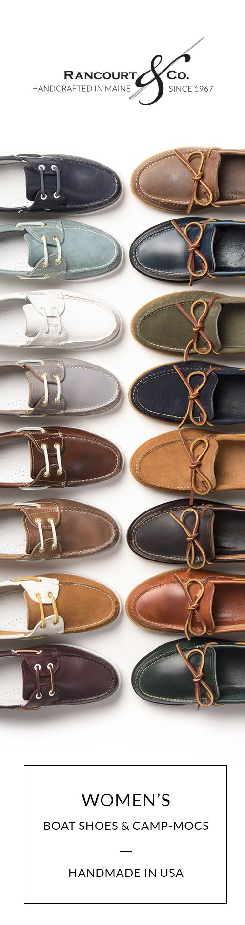 Ladies Boat Shoes and Camp Mocs Handmade in USA