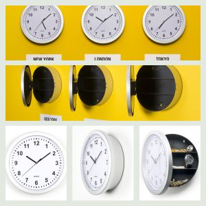 Køkkenur med skjult rum. Læs mere om produktet på bloggen frubruun.dk  #multifunctional #furnituredesign