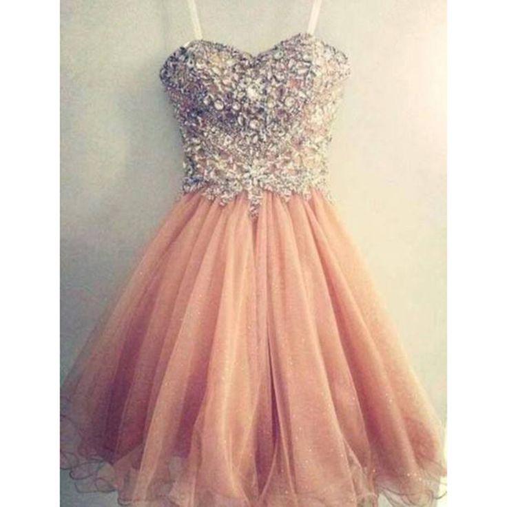 tulle short pink dress - images - dressesphotos.