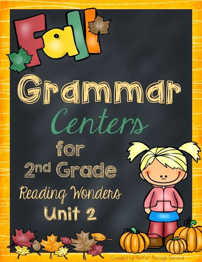 This is a set of grammar centers that correlate with the new Reading Wonders Series for 2nd grade.