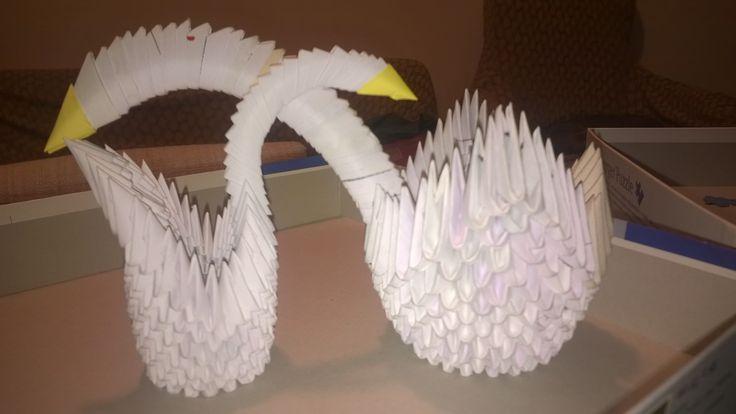 3d origami cigni