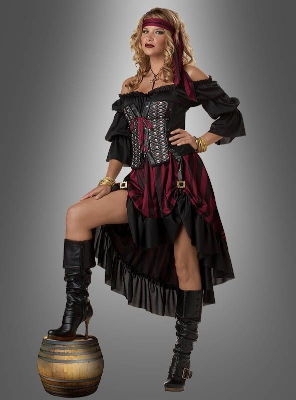 Frisur Piratin Piratin Kostum Piratin Piratenkostum Damen