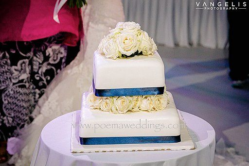 Navy Blue Stylish Santorini Wedding Cake by Petran Art Pastry Chef ! I Wedding Event Planner Poema Weddings & Special Events I Flower Design by Wedding Wish I Catering Services by Spicy Bites I Photography by Vangelis Photography I Wedding Venue Aenaon Villas