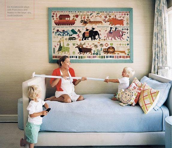 Textured wall coveringChild Room, Wall Art, Kids Bedrooms, Wall Hanging, Noah Ark, Kids Room, Kid Rooms, Boys Room, Lonny Magazine