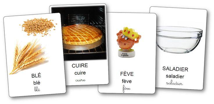 Imagier de la recette de la galette des rois