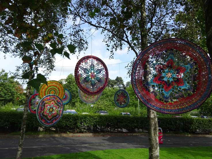 Crochet Mandala Hoops made by Lucy of Attic24 for Yarndale