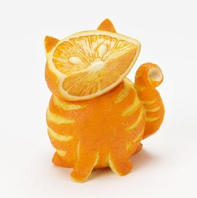 """Orange Tabby Cat ... One of the """"Home Grown Vegetable Figures"""" from Enesco"""