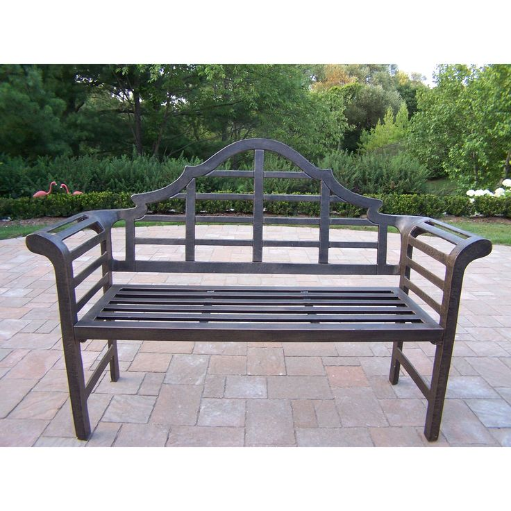 Oakland Living King Louis Cast Aluminum Lutyens Bench From Hayneedle Com