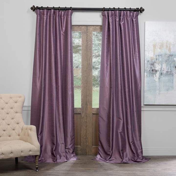 Eff EFF Blackout Vintage Textured Faux Dupioni Window Curtain