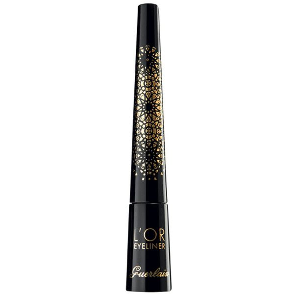 Guerlain Limited Edition L'Or Felt Eyeliner found on Polyvore featuring beauty products, makeup, eye makeup, eyeliner, sparkling gold, guerlain and guerlain eyeliner