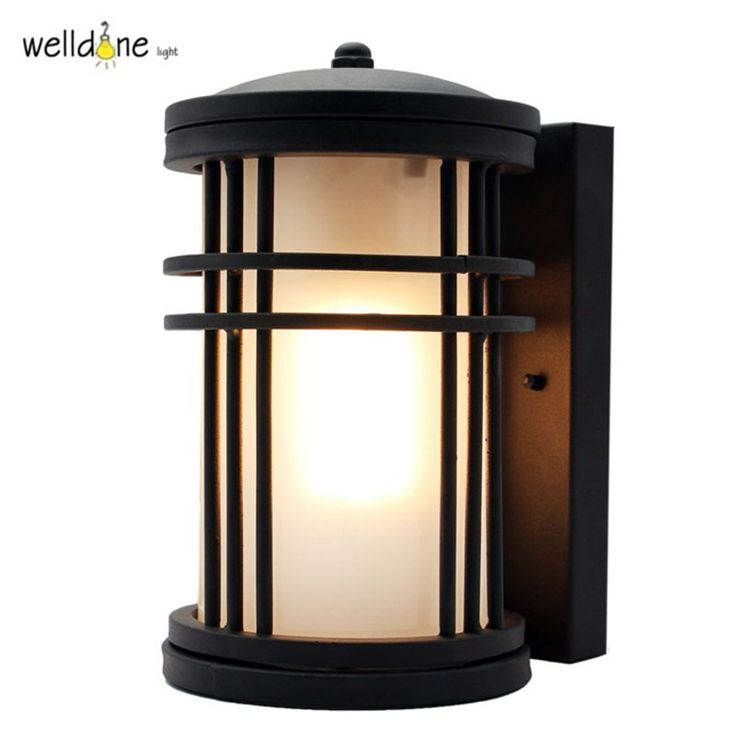 Waterproof lamp outdoor wall lamp rustic wall lights outdoor balcony fashion speaker wall lamp aluminum+glass E27 LED Bulb