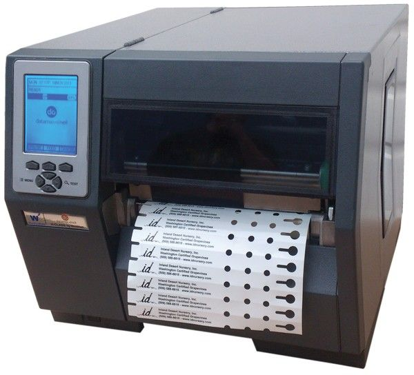 Thermal transfer printers are used to make bar codes, price tags and other labels. The process of thermal transfer label printing involves the use of heat to register and impression into paper. The print head of the thermal printer has many resistive heating pins which melt ink into paper on contact.