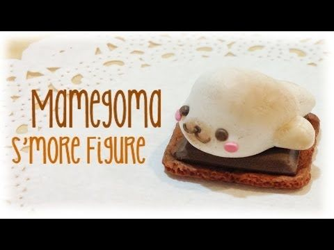 DIY Mamegoma S'more Polymer Clay Tutorial by Flying Mio. I love Flying Mio's tutorials! The seal marshmallow is so cute and the crackers and chocolate are so realistic! I don't think that I can ever make anything so adorable ;)