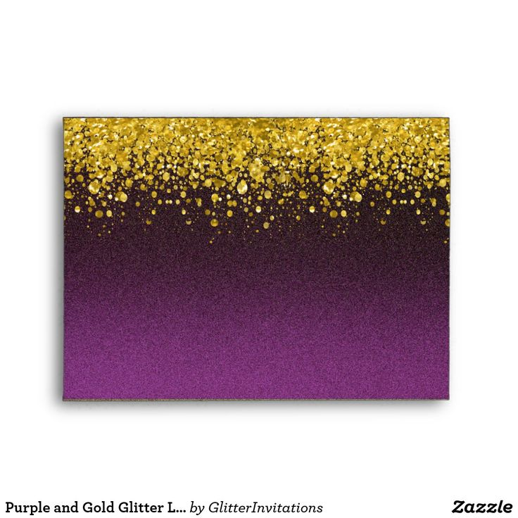 Purple and Gold Glitter Look Envelope Purple and gold envelope glitter look envelope. Note: This is graphic artwork and contains no messy glitter.