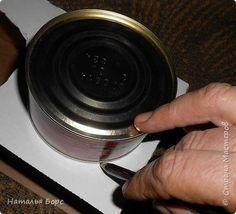 Мастер-класс Декупаж Шкатулочки из консервных банок Материал бросовый фото 4