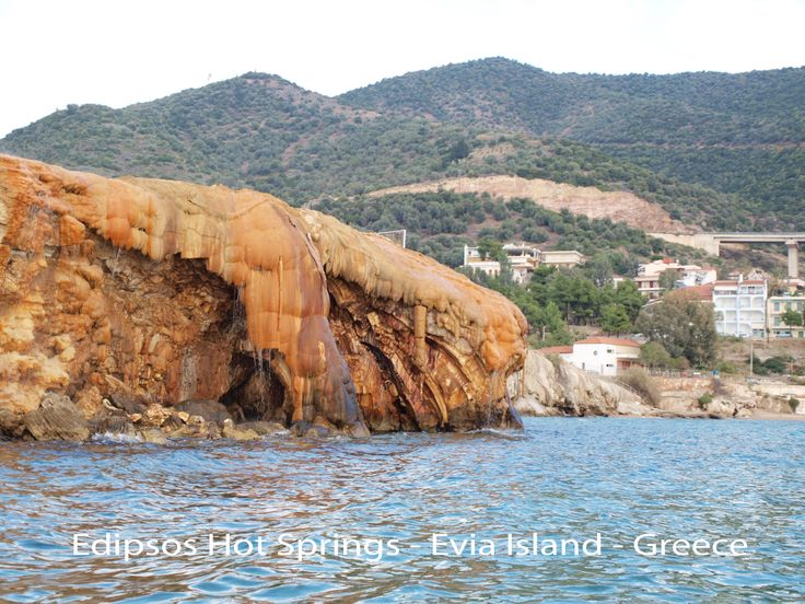Edipsos. Natural Rock From Hot Spring Mineral Water
