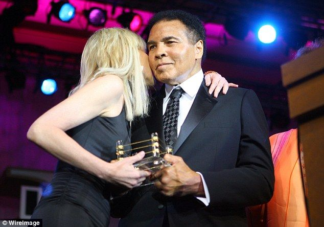 Together again: The Basic Instinct star and Ali were reunited at his Celebrity Fight Night charity event in 2007 in Phoenix, Arizona