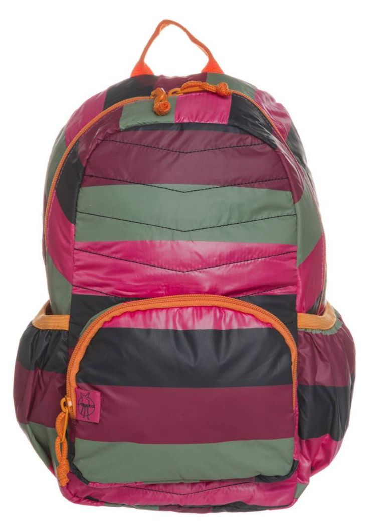 "Lässig. Rucksack - striped magenta. Pattern:striped. Fastening:Zip. Compartments:spacious inner compartment. length:10.0 "" (Size One Size). width:6.5 "" (Size One Size). Lining:Polyester. carrying handle:2.0 "" (Size One Size). Outer m..."