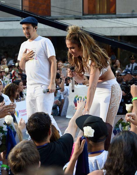 "Jennifer Lopez Photos Photos - Manuel Miranda and Jennifer Lopez perform on NBC's 'Today' at Rockefeller Plaza on July 11, 2016 in New York City. - Jennifer Lopez & Lin-Manuel Miranda Perform On NBC's ""Today"""