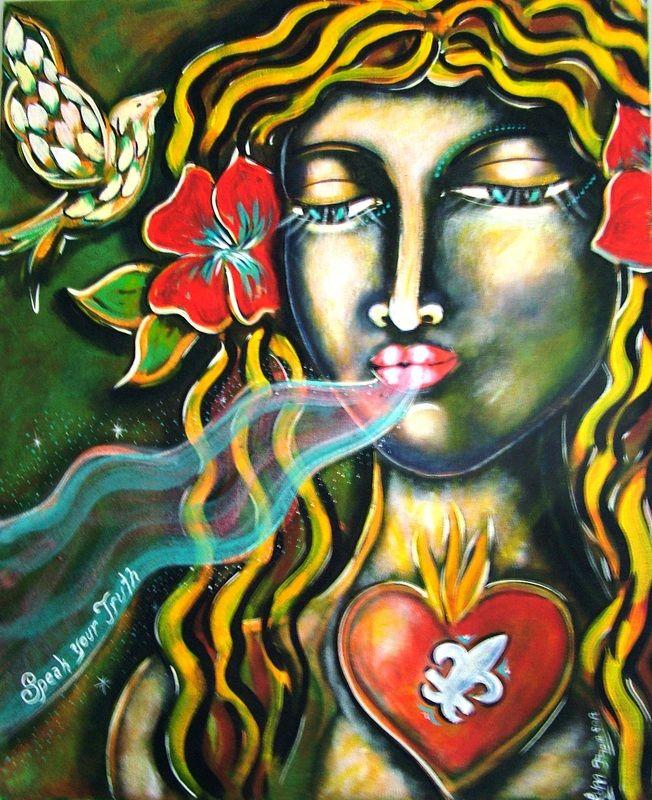 "Muse - ""Speak Your Truth""   Acrylic on Canvas, ART of Sisterhood"