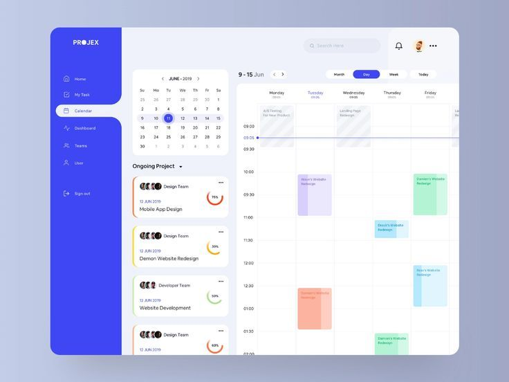Project Management Calendar In 2020 Web App Design Calendar App Web Design