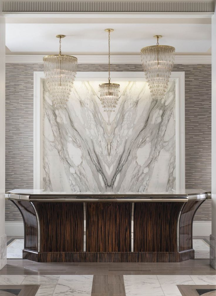 Book Matched Marble Statement wall