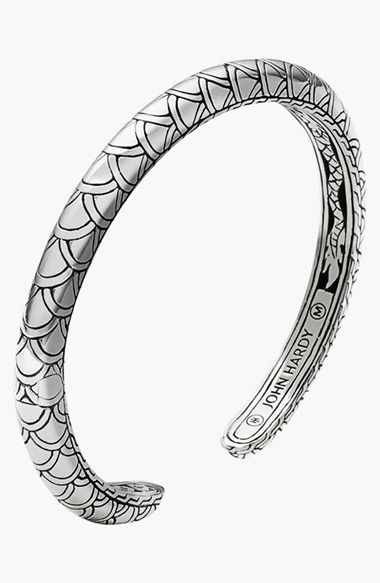Free shipping and returns on John Hardy 'Naga' Scale Slim Cuff at Nordstrom.com. John Hardy's signature dragon motif is revealed in the etched scale design on this slim, sterling-silver cuff.