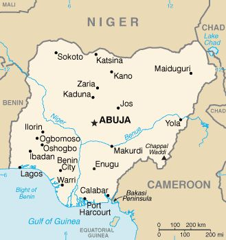 Image result for nigeria map