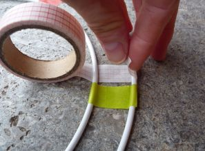 Brennender Schuh - Fensterdekoration, Ringe, Basteln, Washi-Tape, Masking-Tape kleben, Tutorial