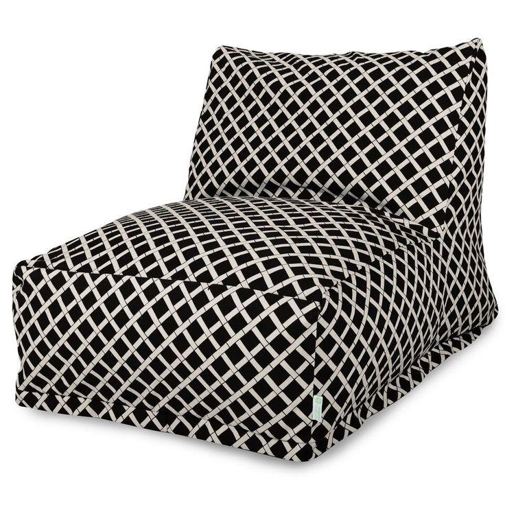 Black Bamboo Bean Bag Chair Lounger