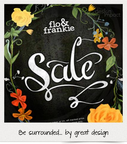 Beautifully crafted illustrations and script created for point of sale signage for flo&frankie...