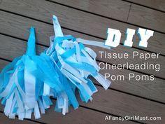 DIY Tissue Paper Cheerleading Pom Poms   AFancyGirlMust.com