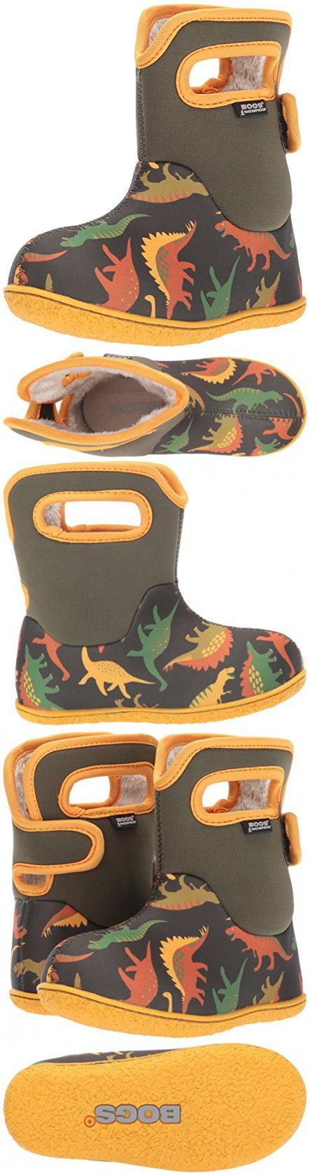 Bogs Baby Dino Snow Boot, Moss Multi, 7 M US Toddler