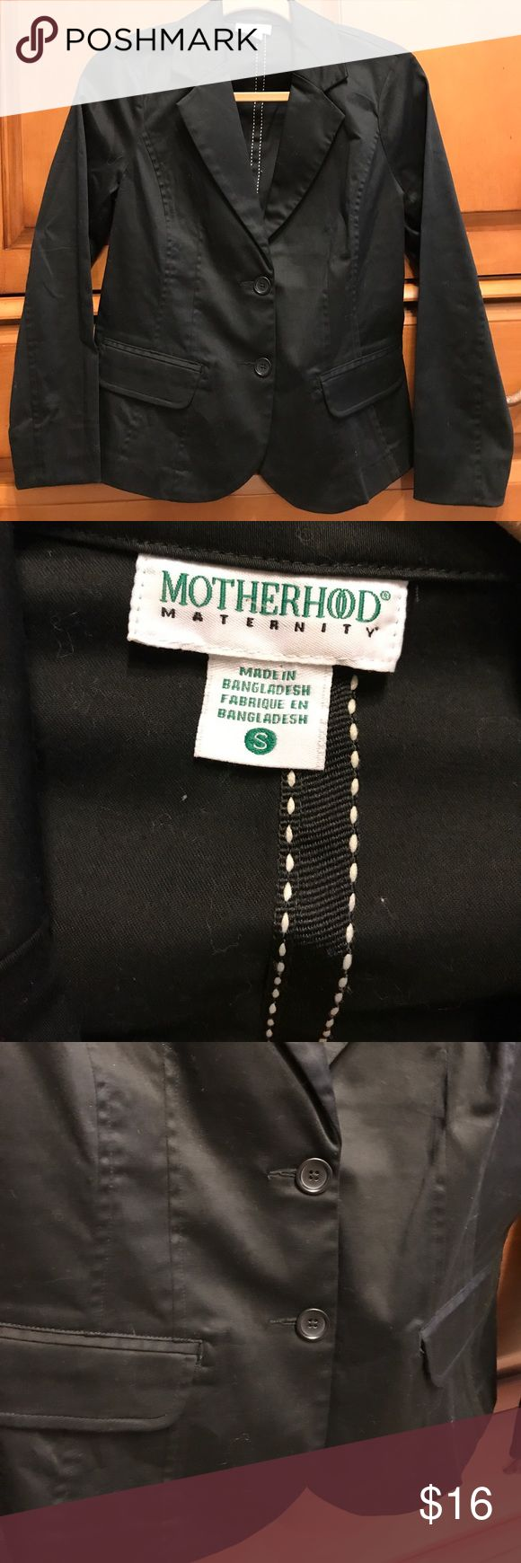 Motherhood maternity black blazer jacket small The blazer is like new it has two buttons in the front from a smoke and pet free home Motherhood Maternity Jackets & Coats Blazers