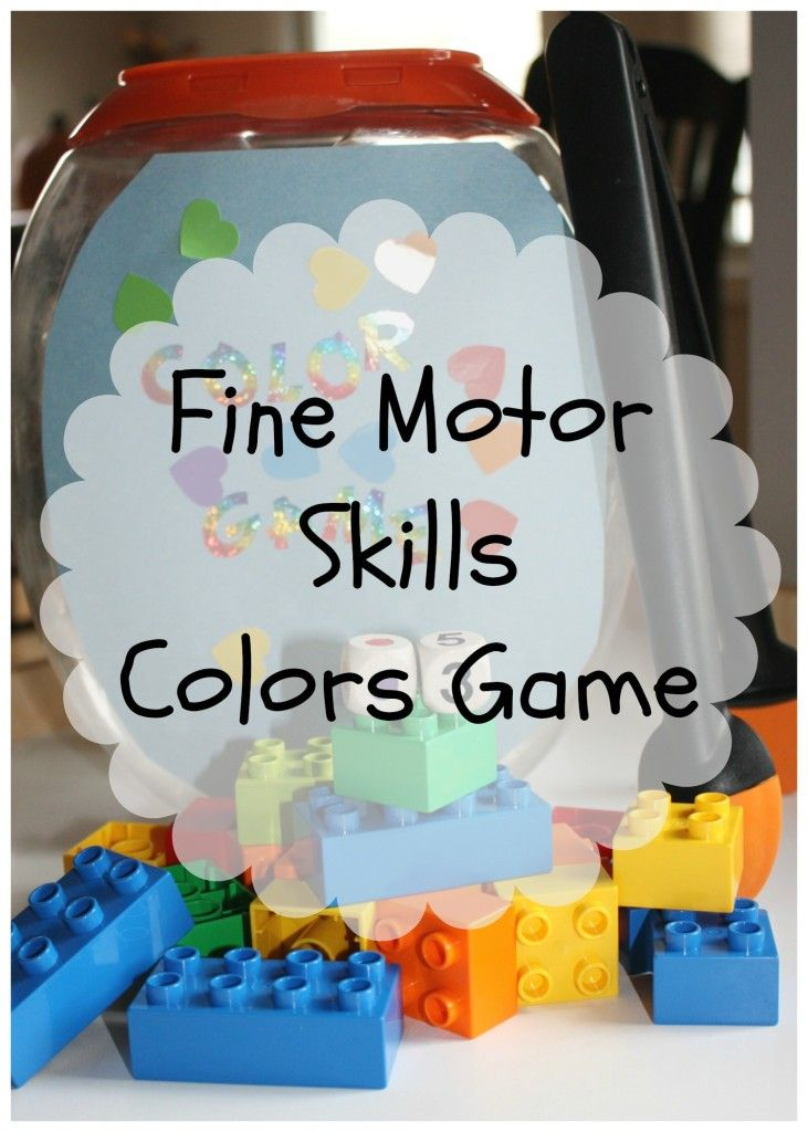 DIY color game fine and gross motor play