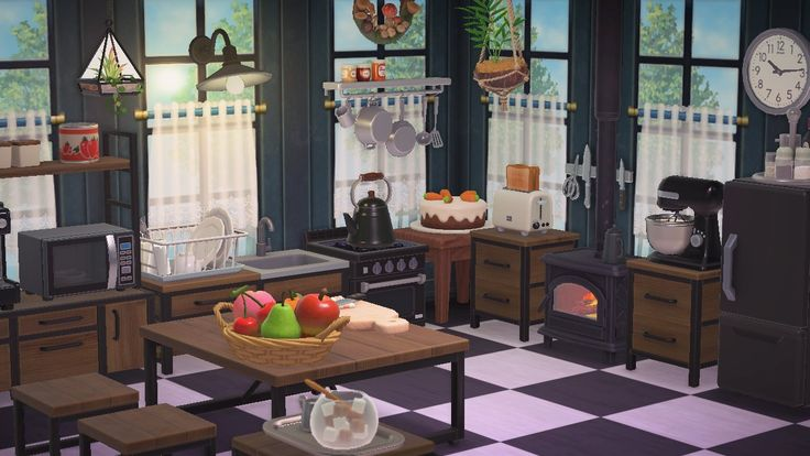 ACNH - Kitchen in 2020   Animal crossing game, Animal ... on Animal Crossing Kitchen Ideas  id=16263