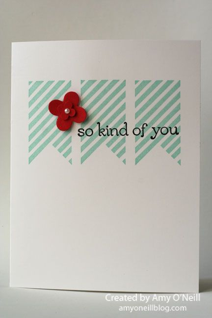 Stampin' Up! CAS by AMy O'Neill at Amy's Paper Crafts: Super Simple Banner Card