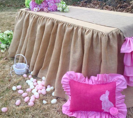 Burlap Tablecloth Easter tablecloth